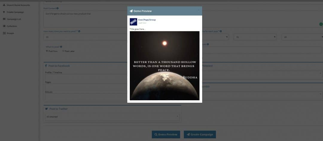 Preview Content On Social Media Content Automation