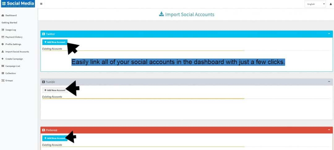 Import Accounts To Social Media Content Automation