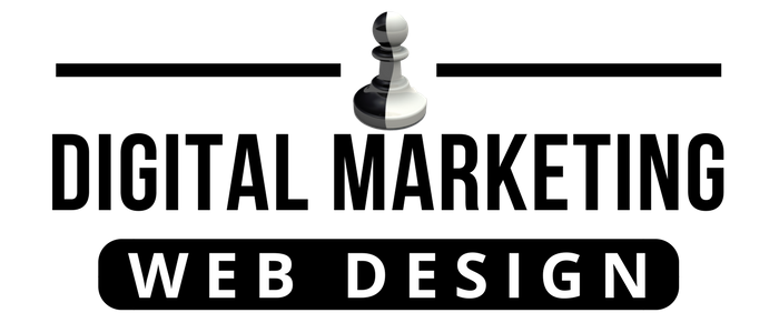 black digital marketing web design logo