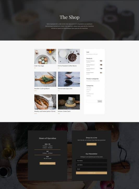 Restaurant Web Design 7