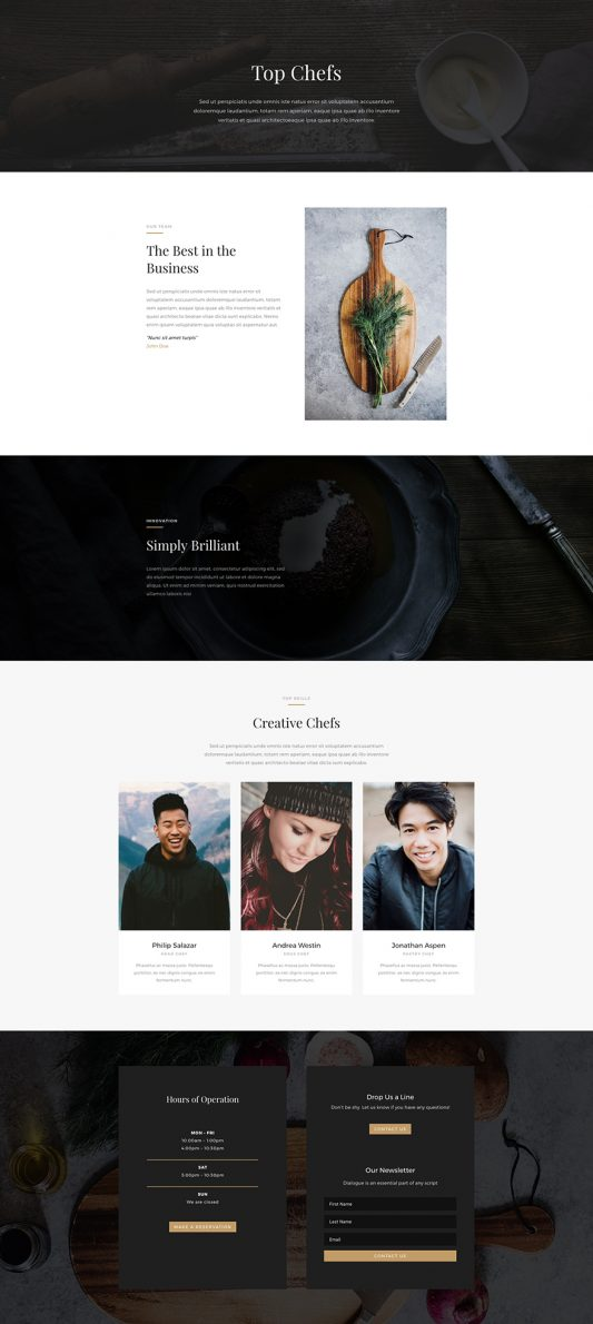 Restaurant Web Design 8