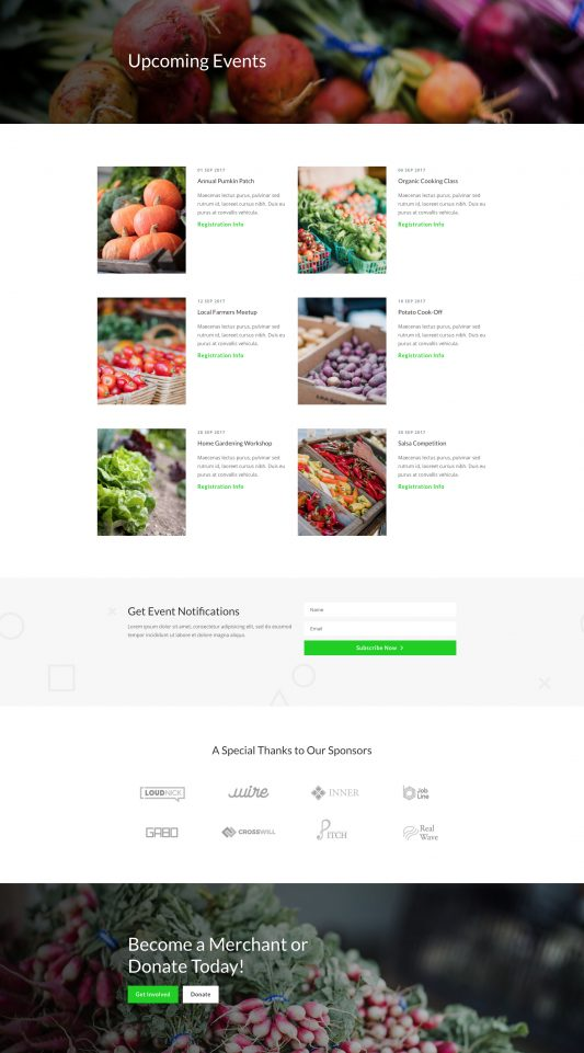 Farmers Market Web Design 5