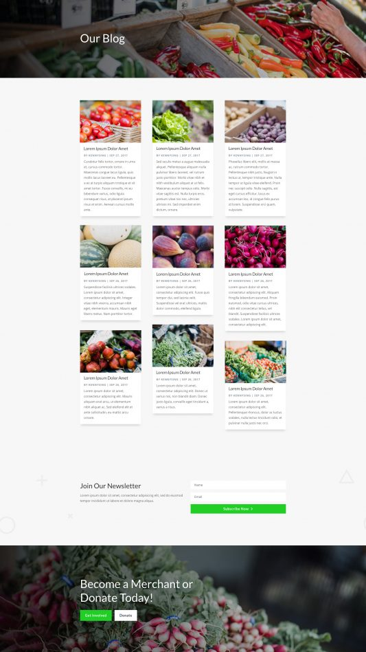 Farmers Market Web Design 2
