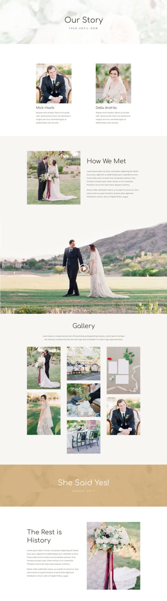 Wedding Web Design 1