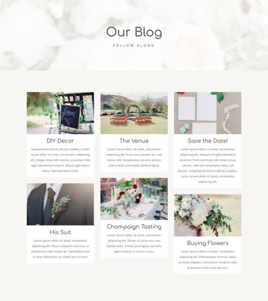 Wedding Web Design 2