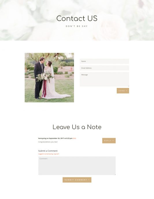 Wedding Web Design 3