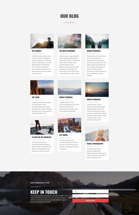 Travel Agency Web Design 2