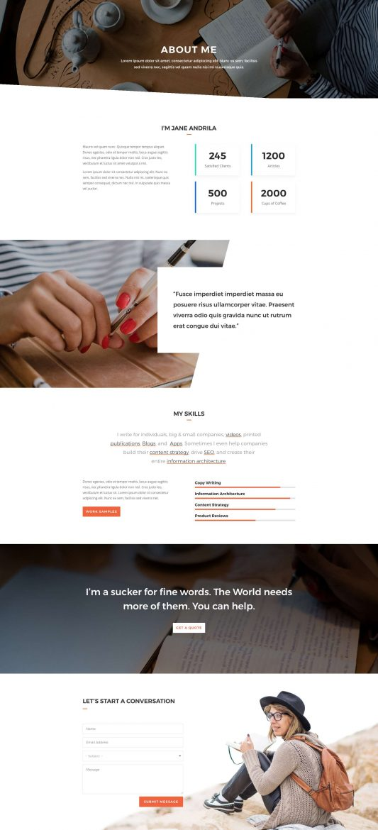 Copywriter Web Design 1