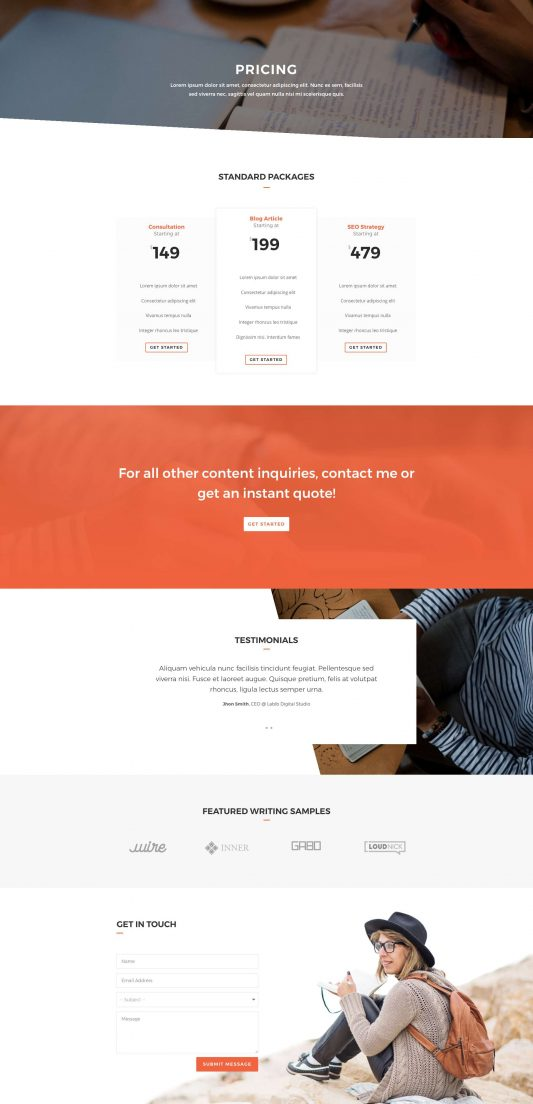Copywriter Web Design 8