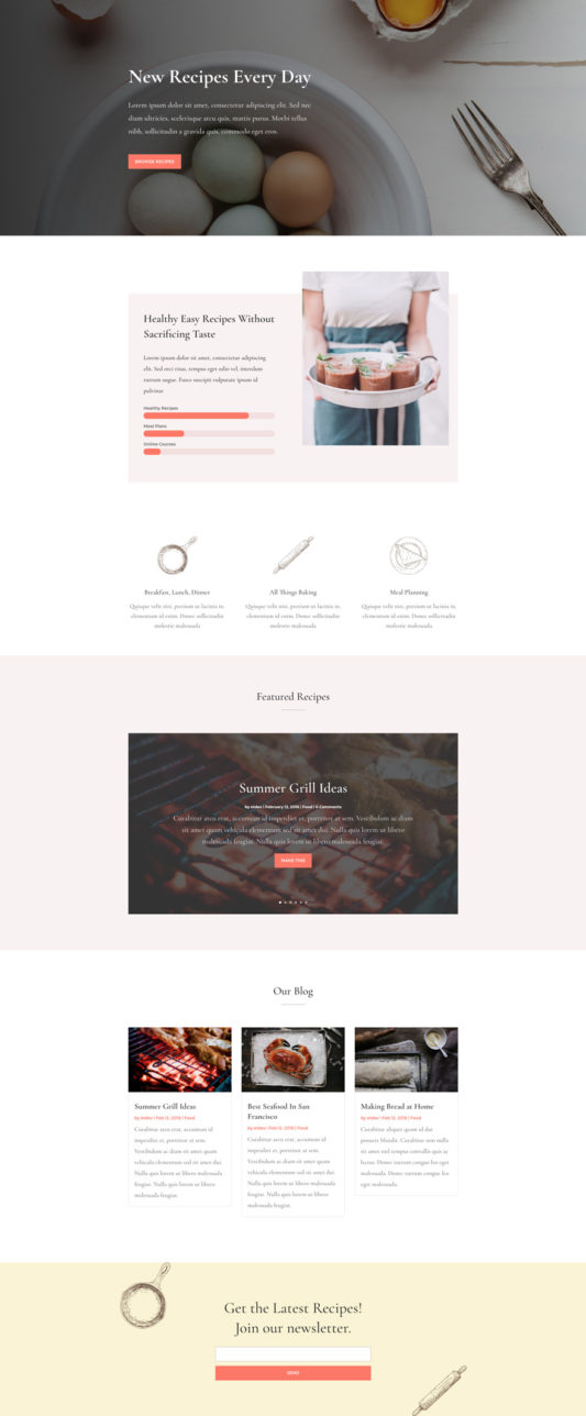 Food Recipes Web Design 4