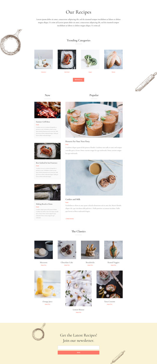 Food Recipes Web Design 7