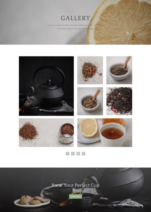 Tea Shop Web Design 4