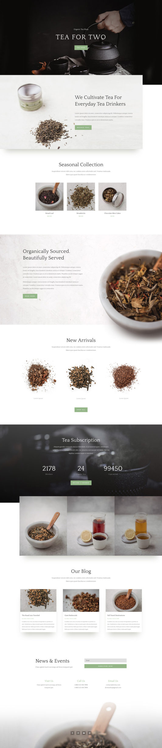 Tea Shop Web Design 7