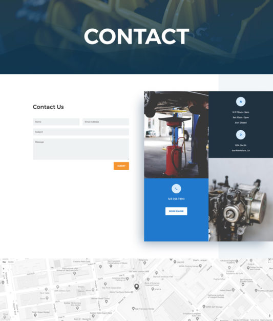 Auto Repair Web Design 2