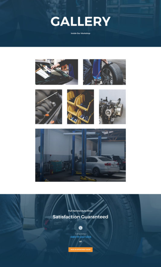 Auto Repair Web Design 3