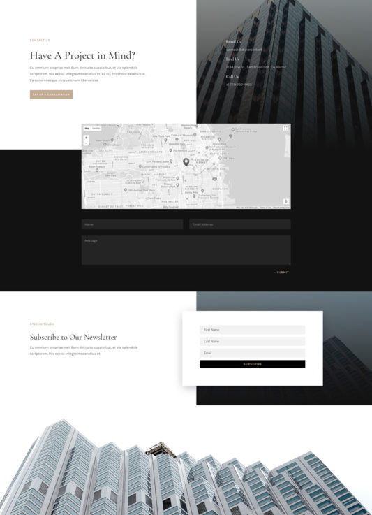 Architecture Firm Web Design 2