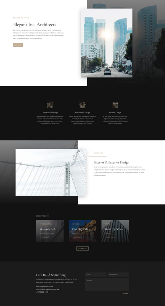 Architecture Firm Web Design 3