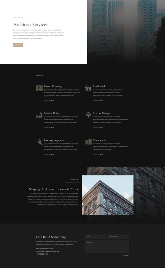 Architecture Firm Web Design 7