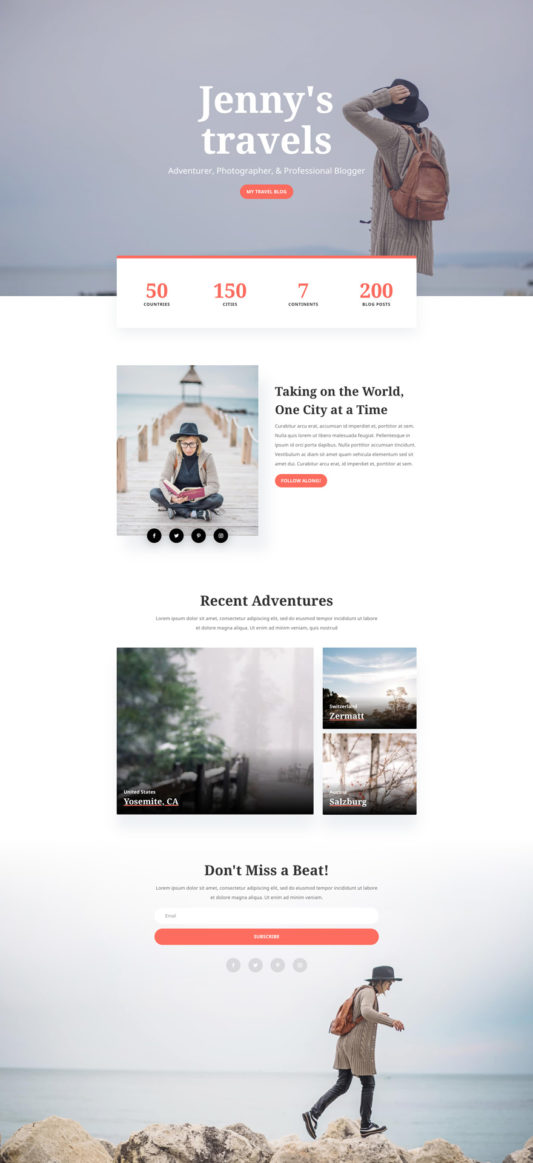 Travel Blog Web Design 4