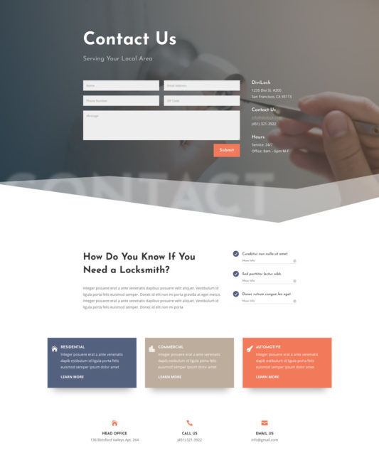 Locksmith Web Design 2