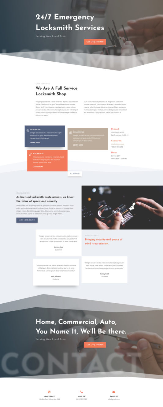 Locksmith Web Design 4