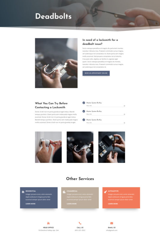Locksmith Web Design 5