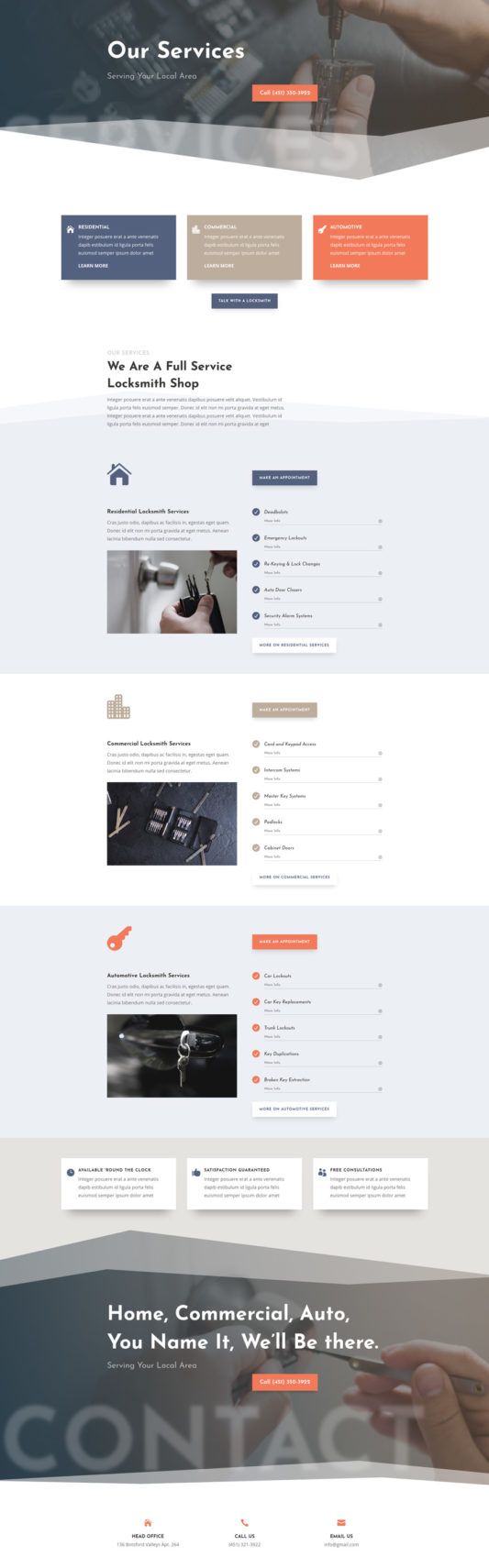 Locksmith Web Design 6