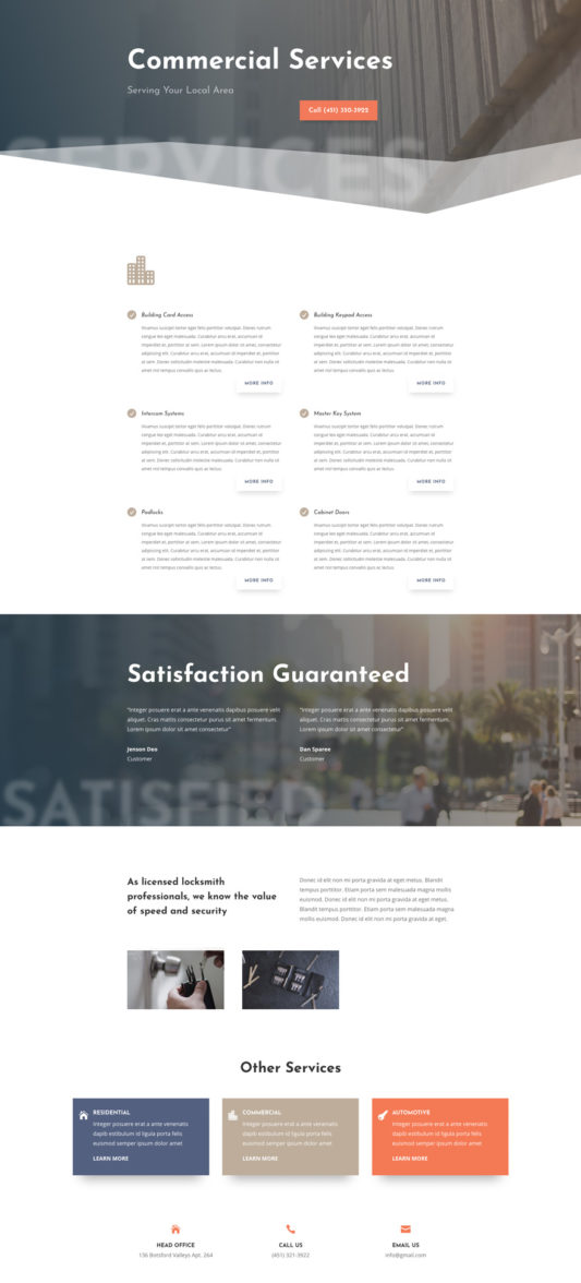 Locksmith Web Design 7