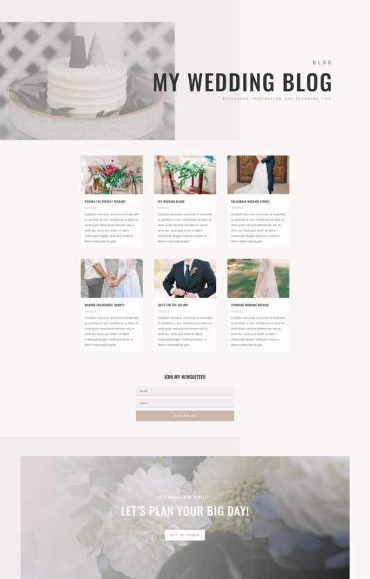 Wedding Planner Web Design 2