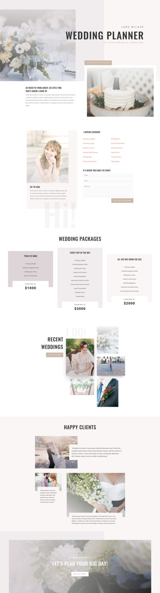 Wedding Planner Web Design 6