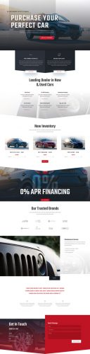 Car Dealer Landing Page Style