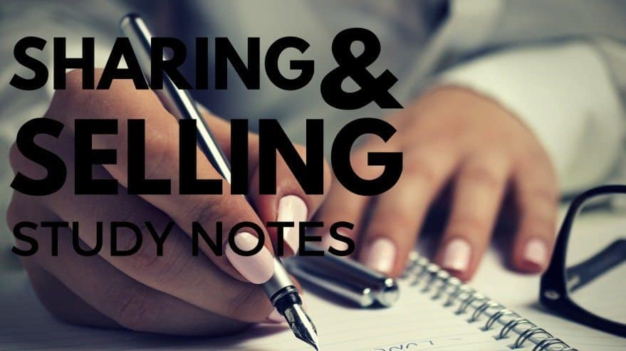Sharing and Selling Study Notes