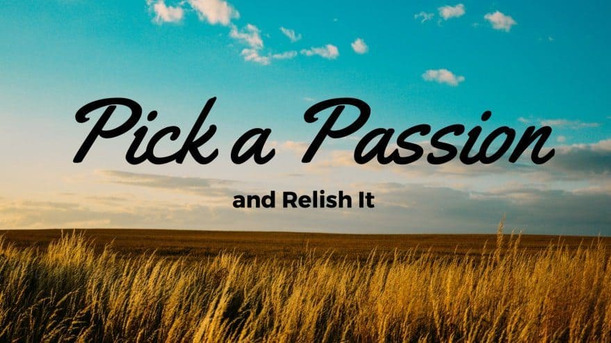 Pick a Passion and Relish It