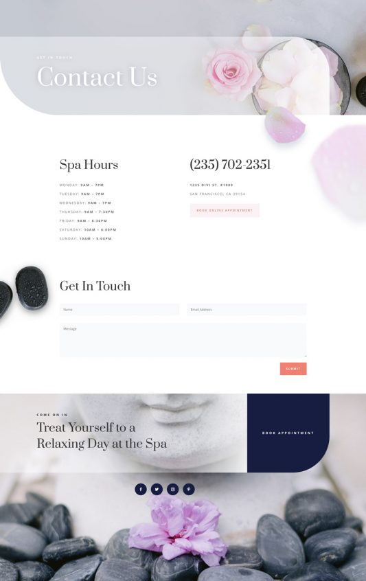 Day Spa Web Design 3