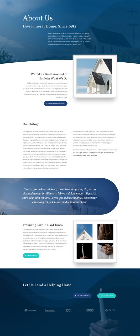 Funeral Home Web Design 1