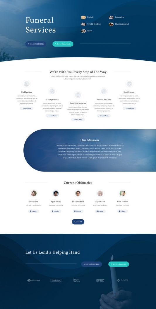Funeral Home Web Design 3
