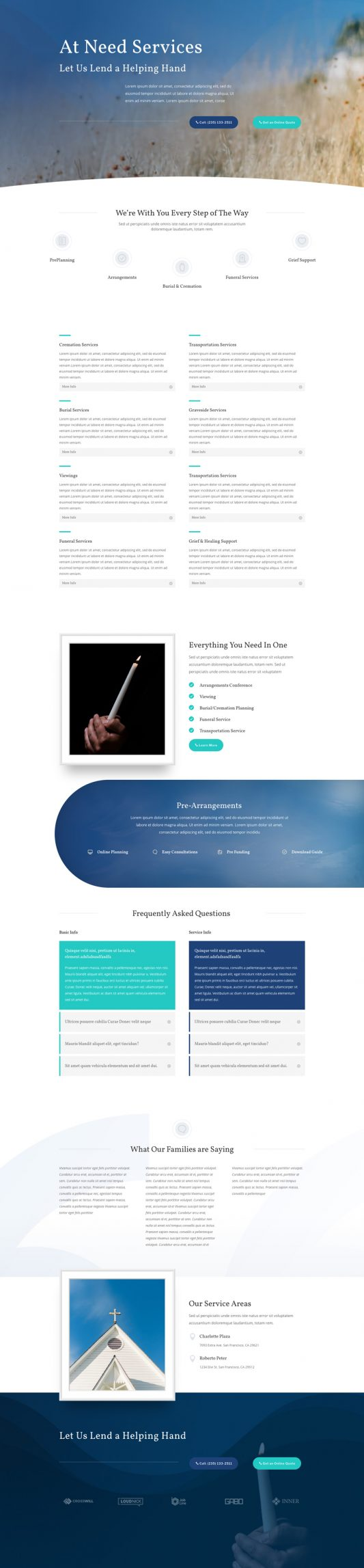Funeral Home Web Design 6