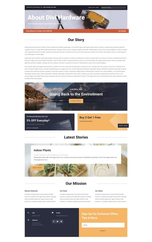 Hardware Store Web Design 1