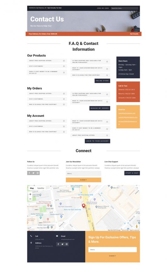 Hardware Store Web Design 3