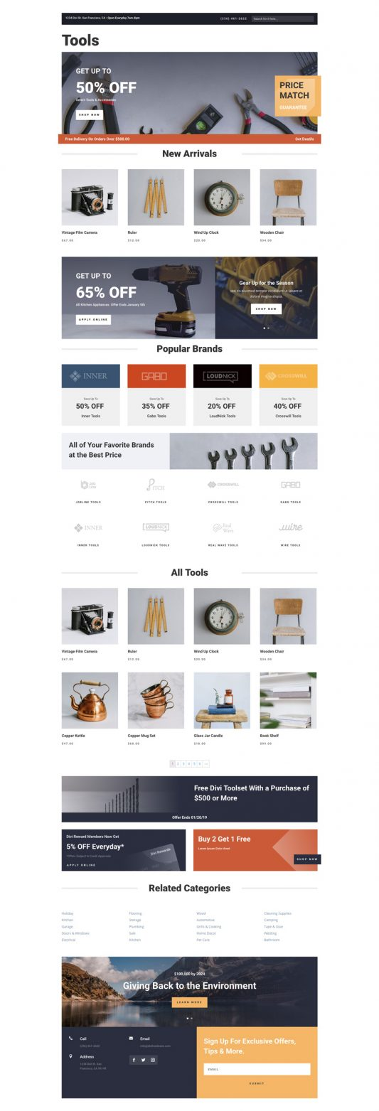 Hardware Store Web Design 6
