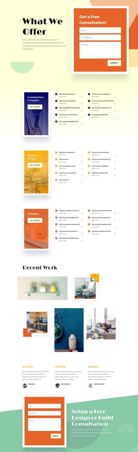Home Improvement Web Design 6