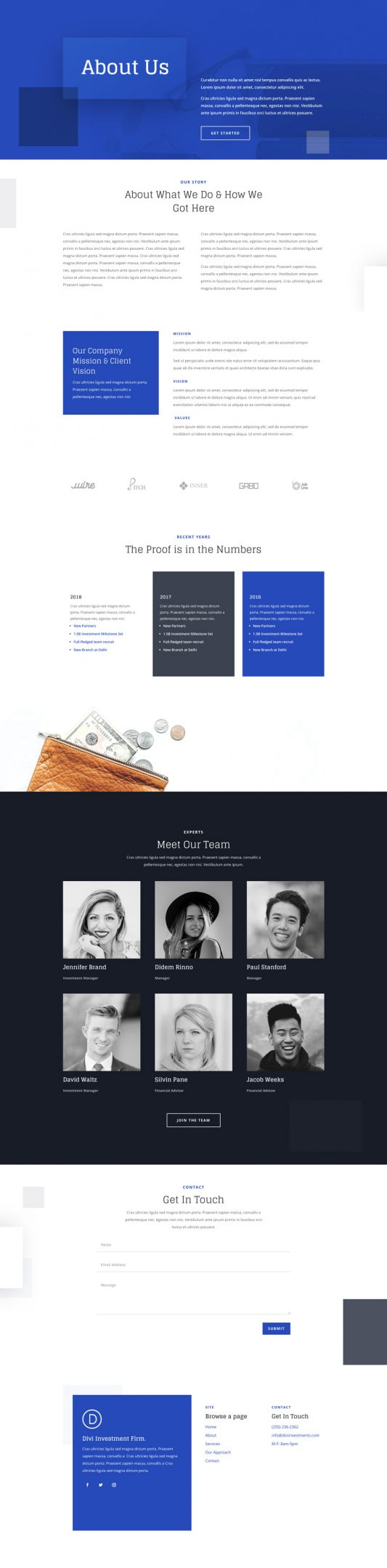 Investment Company Web Design 1