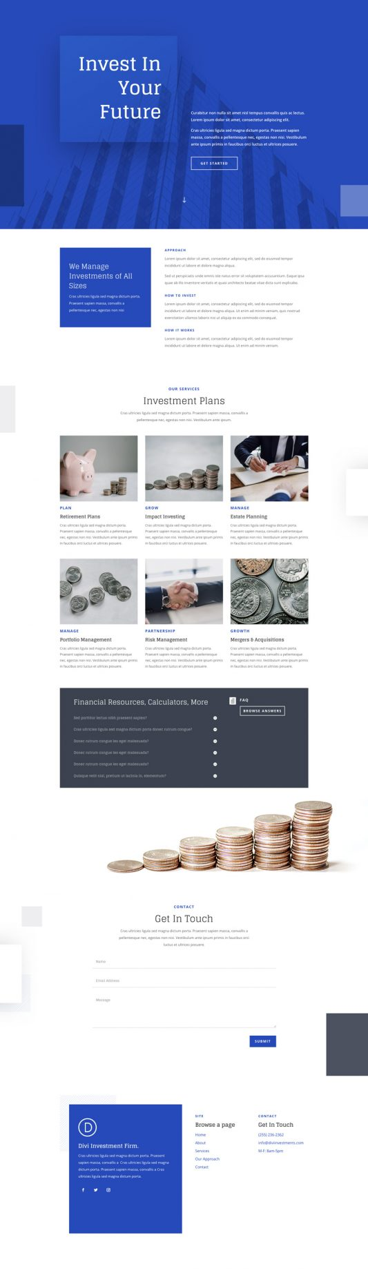 Investment Company Web Design 4
