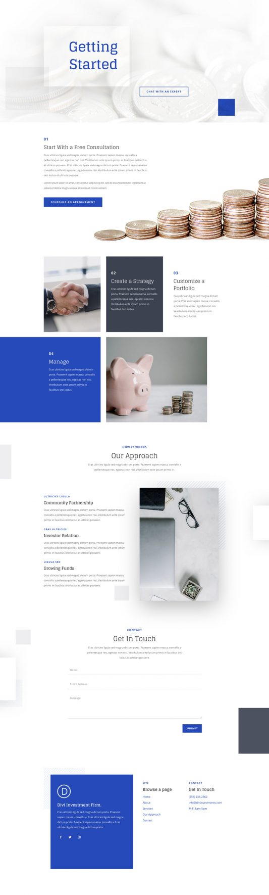 Investment Company Web Design 5
