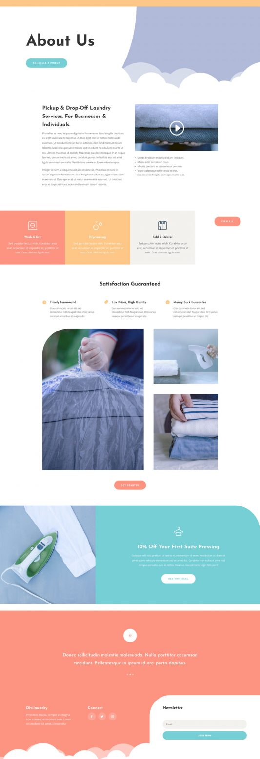 Laundry Services Web Design 1