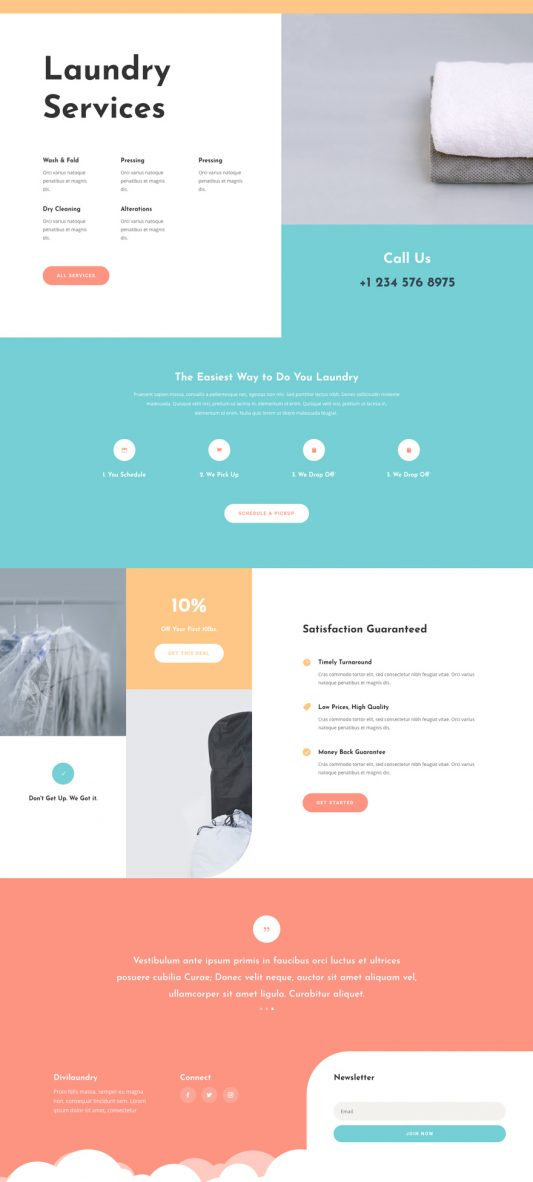 Laundry Services Web Design 3