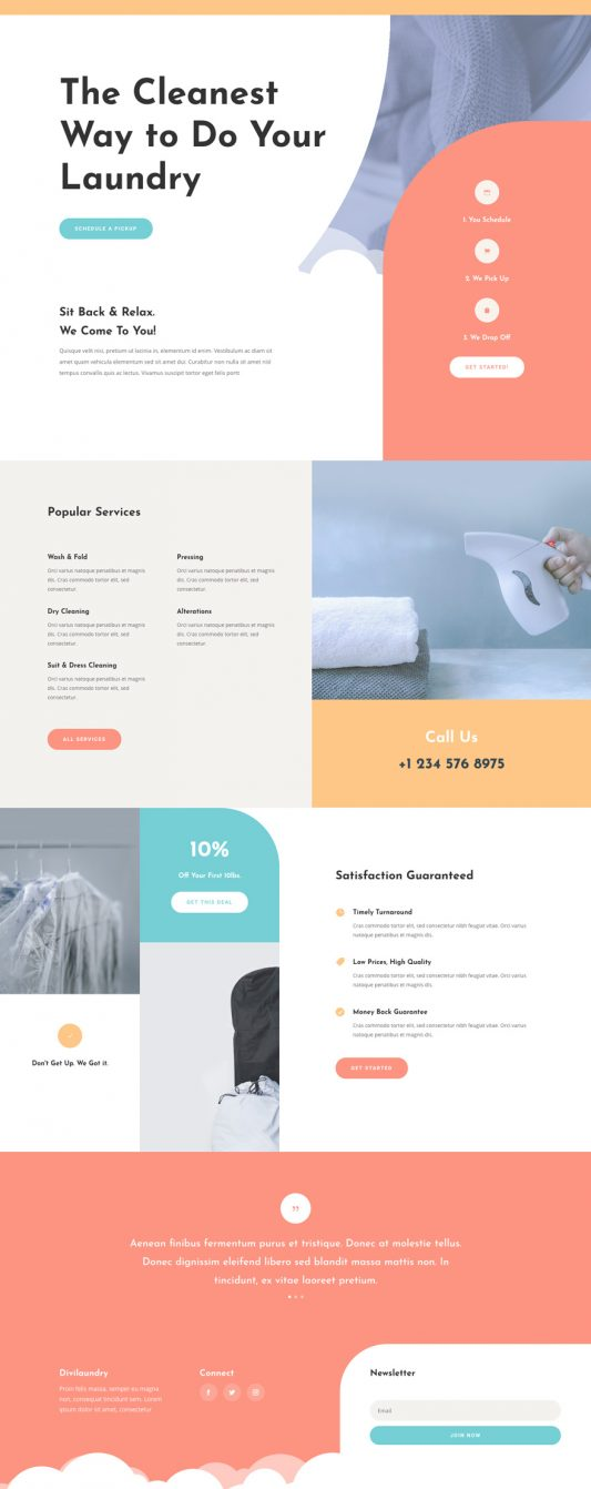 Laundry Services Web Design 4