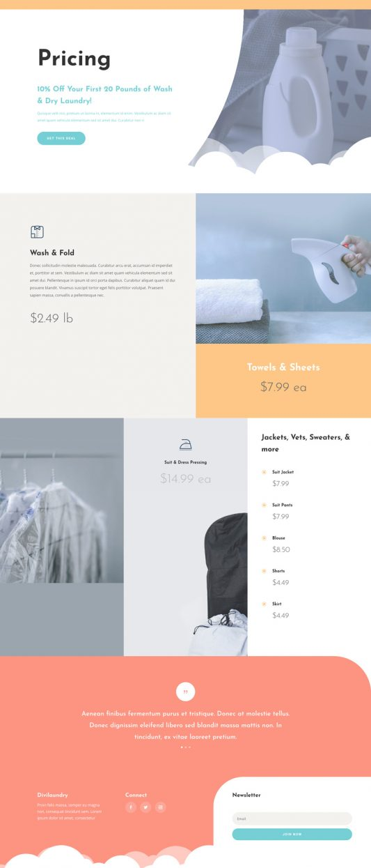 Laundry Services Web Design 5