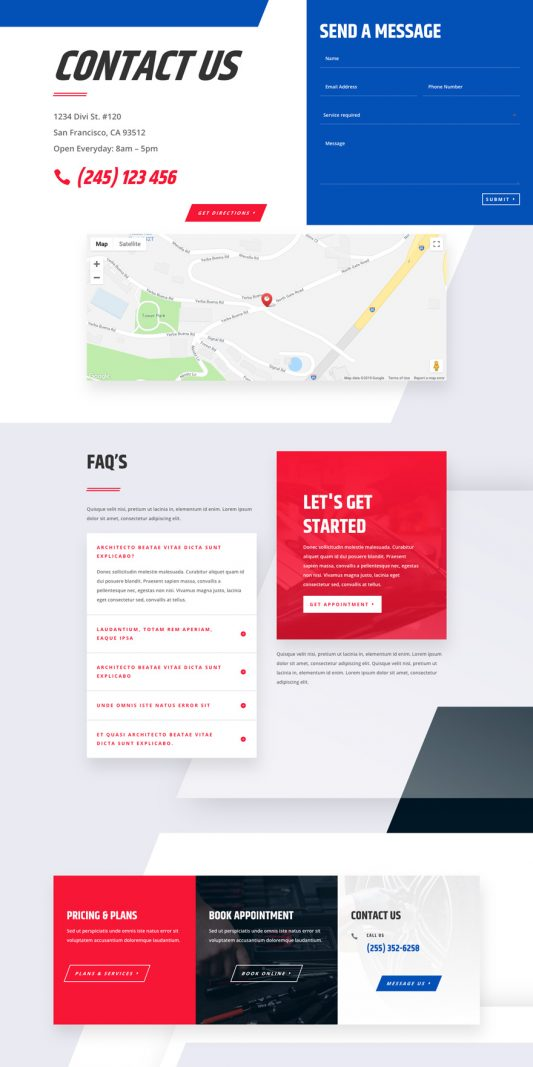 Mechanic Web Design 3