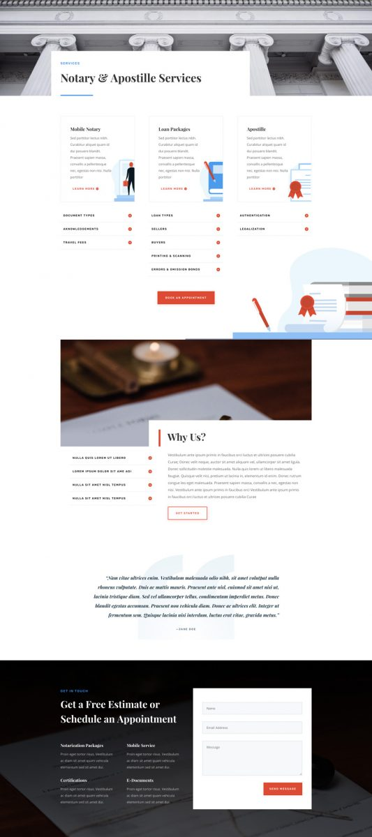 Notary Public Web Design 6